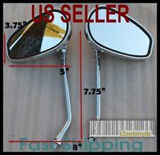 Pair Chrome Mirrors Yamaha Virago XV250 XV535 XV550 XV700 XV750 XV920 1000 1100
