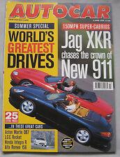 AUTOCAR 3/6/1998 featuring Jaguar XKR , Porsche 911, Ford Puma, Volvo