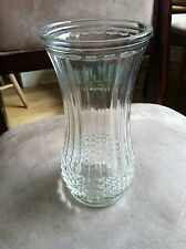 Hoosier Vase  Clear Pressed Glass Panel Diamond Design Vintag 4088-A