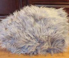 "NEW Pottery Barn Teen Fur-Rific SMALL 36"" Beanbag Slipcover GRAY"