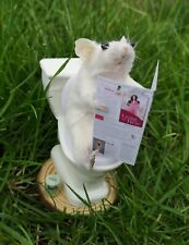 Taxidermy mouse on Toilet gift Pet display Victorian goth