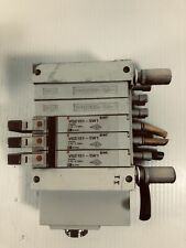 SMC Manifold with Valves (2) VVQ2000-10A-1 and (3) VQ2101-5W1