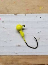 1/16 oz chartreuse jig heads 100ct. w/#2 bronze Eagle Claw Lil' Nasty hook