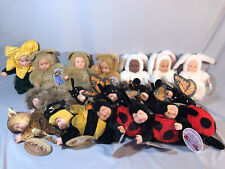 Anne Geddes Baby Doll 9� Bean Filled Collection Lot Of 17 Cuties