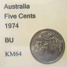 1974 Australia 5c Five Cent UNCIRCULATED FROM MINT SET