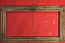 antica cornice dorato oro foglia nera in legno grande per quadri tele barocca