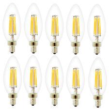 10er 4W Dimmbar E14 LED Filament Glühfaden Fadenlampe Lampe Birne Warmweiß