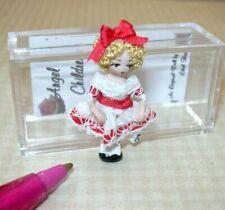 "Miniature Ethel Hicks Tiny Porcelain Doll ""Wee Shirley"": DOLLHOUSE 1:12"