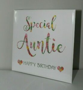 Special Auntie, Happy Birthday Card, Special Auntie Card, Blank Card, Birthday