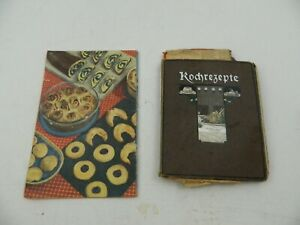 2 alte Kochbücher Kochbuch Handgeschrieben Rezepte Sammlung B-28057