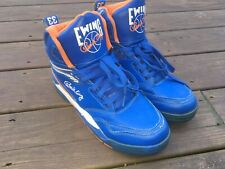 Patrick Ewing #33 Blue/Orange Mens High Top Leather Basketball Shoes Size 10