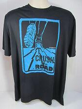 Under Armour XLarge Black Run Crush The Road Heat Gear Loose T Shirt Item #21E