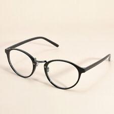 Vintage Clear Lens Eyeglasses Frame Retro Round Men Women Unisex Nerd Glasses C