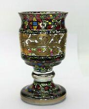 Hermann Pautsch Haida um 1920 reichlich Emaille Malerei & Gold Pokal - 19092 –