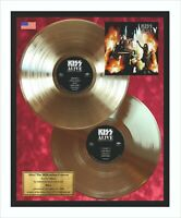 Kiss Alive! The Millennium Concert Vinyl Gold Metallized Record In Frame