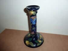 ROYAL STANLEY WARE POTTERY 20CM CANDLESTICK WITH JACOBEAN FRUIT,FLOWER,LEAF DECO