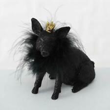 Deko-Figur Schwein Flyppa schwarz mit Glitzer 12 cm Glücksschwein Dekoschwein