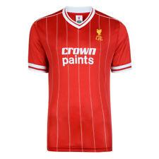 Ливерпуль ФК ретро 1982 корона краски домой красный Джерси доступные размеры SM-Xxl