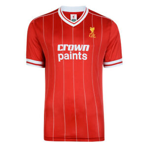 Liverpool FC Retro 1982 Crown Paints Home Red Jersey Sizes Available  Sm-XXL