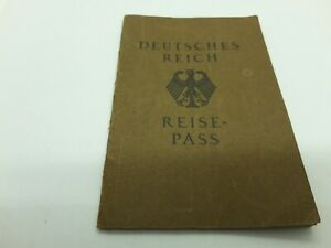 1929 Germany passport passeport reisepass issued in Bilbao for travel to France