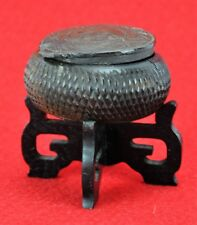 """Chinese Antique Carved Wooden Box with lid. Needs small repair.1"""" (BI#MK/181111)"""