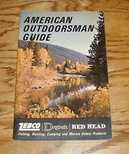Original 1966 Zebco American Outdoorsman Guide Fishing Sales Brochure 66