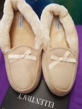 Ellen Tracy House Slippers Beige Size 11 New
