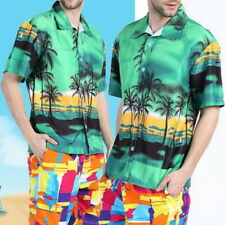 Casual Mens Hawaiian Shirts Short Sleeve Tropical Palm Summer Fancy Beach Shirts