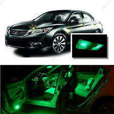 For Honda Accord 2003-2012 Green LED Interior Kit + Green License Light LED