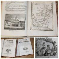 1835 ✤ France Histor. Industr. & Pittoresque / 81 Cartes ✤ S.Berthoud ✤ 2 vol.