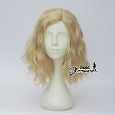 Light Blonde Curly Lolita Women Hair Fashion Cosplay Wig Harajuku Heat Resistant