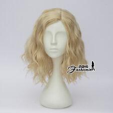 Light Blonde Curly Lolita Women Hair Fashion Cosplay Wig Harajuku Heat Resistant