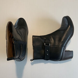 Wittner Carla Black Leather Boots Size 41 EUC