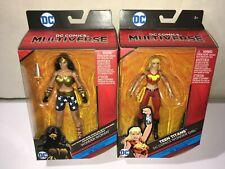 Dc Multiverse- Wonder Woman & Wonder Girl Action Figures Dr Psycho Series new