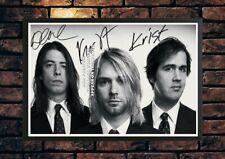 More details for 219) nirvana kurt cobain signed photograph framed unframed reprint great gift