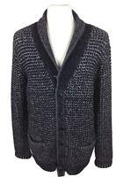 Rag & Bone Neiman Marcus NY Mens Unisex Cardigan Black White Wool Blend Small