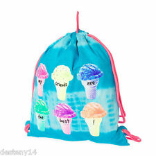 My Friends Are the Best Ice Cream Cone Girl's Reversible Drawstring Bag Bookbag
