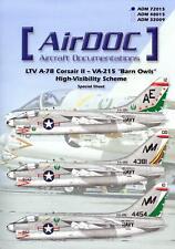 """AirDoc Decals 1/72 LTV A-7B CORSAIR II VA-215 """"Barn Owls"""" High Visibility Scheme"""