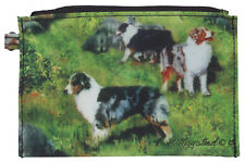 More details for australian shepherd breed of dog group zipper lined purse pouch perfect gift