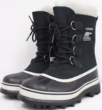 *NEW* Sorel Women's Caribou Waterproof Snow Boots Color Black Stone Size 9