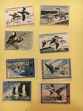 8 Used Federal Duck Stamp Rw-29,30,31,32,33,34,35 &36
