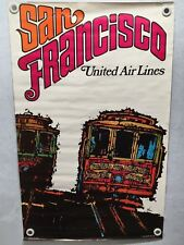 VTG BUS TROLLEY TRAIN ADVERTISEMENT PAIGE PALMER TV EXERCISE POSTER BANNER 37x12