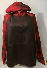And 1 Black Hoodie Pullover Red Camo Arms~~Sunfaded~~NWOT~Large