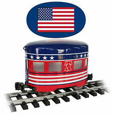 Bachmann Remake of Aristocraft Eggliner # 96278 INDEPENDENCE DAY, LED Lighting