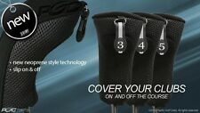 New Thick Neoprene Black Hybrid 3 4 5 Complete Golf Club Full Set Head Covers Nr