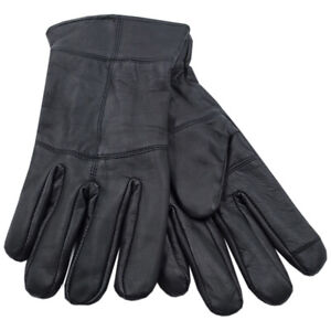 Mens Touchscreen Leather Gloves Thinsulate Lined Thermal Winter Driving Outdoor