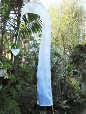 Balinese 2 Metre Flag inclusive with pole.. white (wedding,functions & parties)
