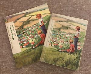 Vintage Alice And Jerry Books Friendly Village 1957 + Unuse Workbook