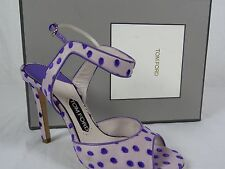 NIB $1440 Womens Tom Ford Polka Dot Ursula Heels sz 9 US sz 39 EUR shoes sandals