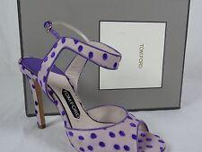 NIB $1440 Womens Tom Ford Polka Dot Ursula Heels sz 9 US sz 39 EUR shoes sandals